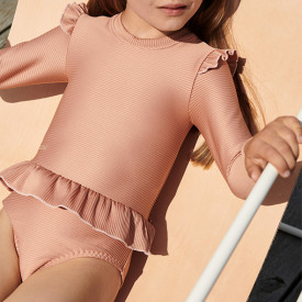 Sille Swim Jumpsuit Structure - Tuscany Rose Pink Liewood