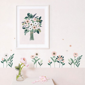 Wallstickers Flowers and Leaves (A3) Multicolour Lilipinso