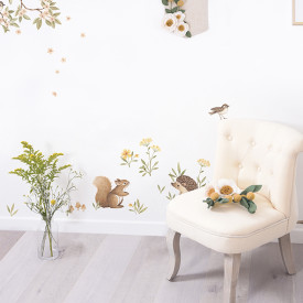 Wallstickers Little Forest Animals (A3) Multicolour Lilipinso
