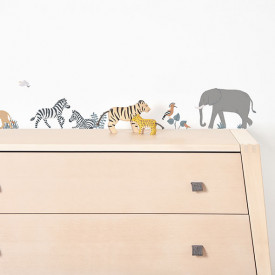 Wallstickers Big Five and Cie (A3) Multicolour Lilipinso