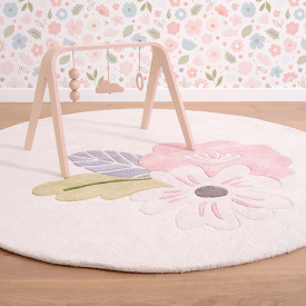 Rond Rug - Flowers and Leaves Multicolour Lilipinso
