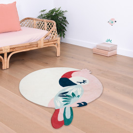 Rug Tropical Parrot - Pink Multicolour Lilipinso