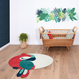 Rug Tropical Parrot - Green Multicolour Lilipinso