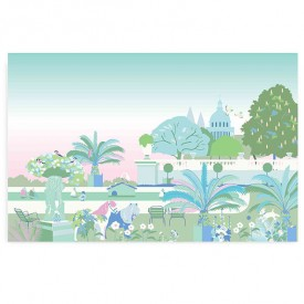 Walldecor Garden - Pink Multicolour Little Cabari