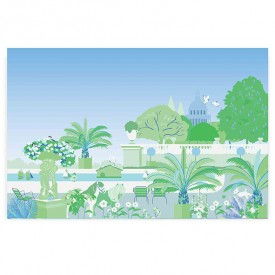 Walldecor Garden - Green Multicolour Little Cabari