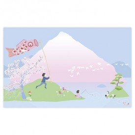 Walldecor Sakura  Multicolour Little Cabari