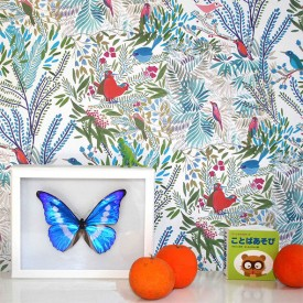 Wallpaper Jazz - Mousse Multicolour Little Cabari