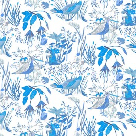 Wallpaper Lucioles Blue Blue Little Cabari
