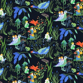 Wallpaper Lucioles Night  Multicolour Little Cabari