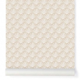 Wallpaper Maracas Beige  Beige Little Cabari