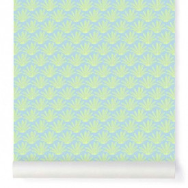 Wallpaper Maracas Blue Blue Little Cabari