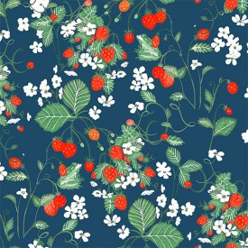 Wallpaper Strawberry Fields Night Multicolour Little Cabari