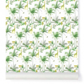 Wallpaper Tamtam Minty Green Little Cabari