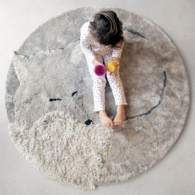 Tilky Rug - Greige Grey Little Cabari