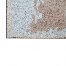 Back to School Rug 140 x 200 cm - Vintage Map Blue Lorena Canals