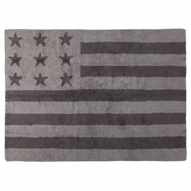 Flag Rug 120 x 160cm - USA Light Grey/Dark Grey Grey Lorena Canals