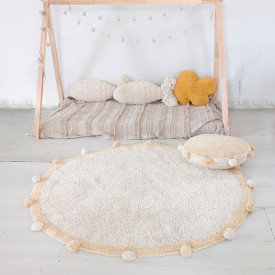 Bubbly Rug 120cm - Natural / Honey Yellow Lorena Canals