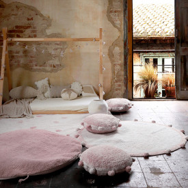 Bubbly Rug 120cm - Natural / Vintage Nude Pink Lorena Canals