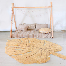 Monstera Rug 120x180cm - Honey Yellow Lorena Canals