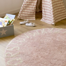 Round ABC Rug 150 cm - Vintage nude / Natural Pink Lorena Canals