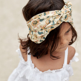Yuriria Headband - Cream Flowers Yellow Louise Misha