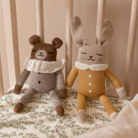Bunny Soft Toy - Ochre Jumpsuit Yellow Main Sauvage