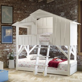 Hut Bunk Bed - Unfinished Nature Mathy by Bols