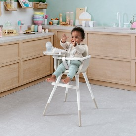 OVO High Chair Plus - Ice - Taupe Brown Micuna
