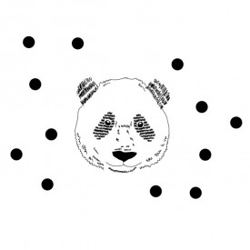 Panda Head Sticker Black MIMI'lou