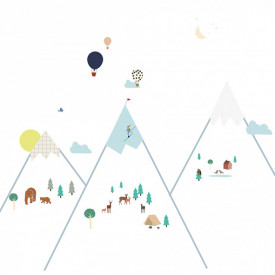Sticker - Big Mountains Multicolour MIMI'lou