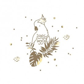 Sticker - Golden Parrot Metal MIMI'lou