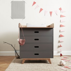 Dresser with 4 Drawers - Two Colors to Choose Multicolour Mimm