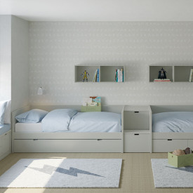 Day bed Nido w/ guest bed - 90x200cm Multicolour Muba - Asoral