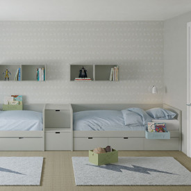 Drawers with runners - 90x200cm Multicolour Muba - Asoral
