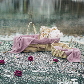 Moses Basket + Bed Linen - Dusty Pink Pink Numéro 74