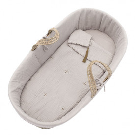 Moses Basket + Bed Linen - Powder  Beige Numéro 74