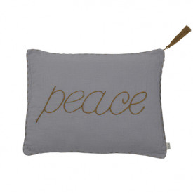 Cushion Cover 30 x 40 - Peace - Stone Grey Grey Numéro 74