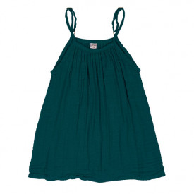 Mia Dress - 1-2 Years - Teal Blue Blue Numéro 74