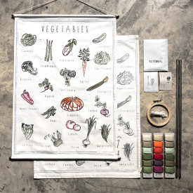School Poster Kit Vegetables Canvas Multicolour Numéro 74