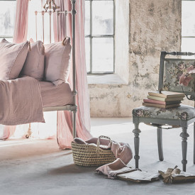 Doll Basket + Bed Linen - Powder  Pink Numéro 74