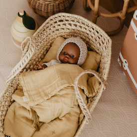 Doll Basket + Bed Linen - Mellow Yellow Yellow Numéro 74