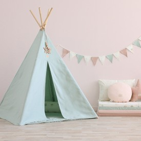 Teepee Phoenix Bubble - Elements - Aqua / White  Blue Nobodinoz