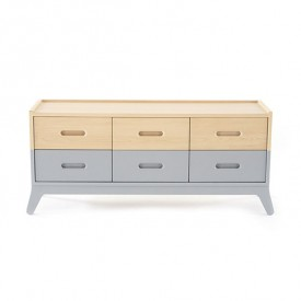 6-Drawer Dresser - Grey Grey Nobodinoz