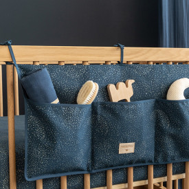 Crib Organizer Merlin Bubble - Elements - Night Blue / Gold Blue Nobodinoz