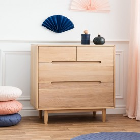 Pure 4 drawers dresser - Oak Nature Nobodinoz
