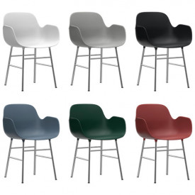 Form Armchair - Chrome or Brass - Color to choose Multicolour Normann Copenhagen