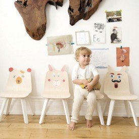 Rabbit Play Chair - Walnut - Set of 2 White Oeuf NYC