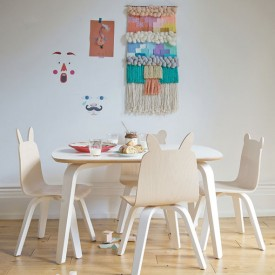 Bear Play Chair - Birch - Set of 2 White Oeuf NYC