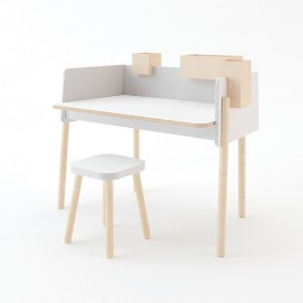 Square Stool White Oeuf NYC