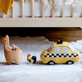 Taxi Pillow Yellow Oeuf NYC